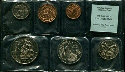 New Zealand: 1968 Proof (Polished) blue label Set, Cat US$17.50!!!