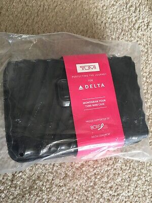 Delta Airlines Tumi Hard Case Bcf Amenity Kit Brand New Mint Business Class 2018