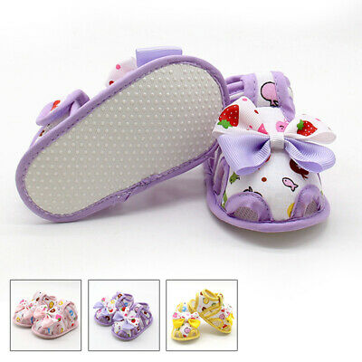 Newborn Girls Toddler Baby Shoes Casual Summer Sandals Princess Crib Shoes