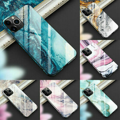 Marble Tempered Glass Phone Case For iPhone 11 Pro Max XS XR X Cover Luxury Hard