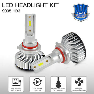 White 9005 HB3 12SMD LED Bulbs Headlight For Can-Am Maverick Max 1000R 2014-2018