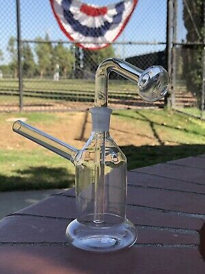"Hookah Water Pipe Glass Bongs 6"" INCH Clear Tobacco Smoking Burner Bong USA NEW!"