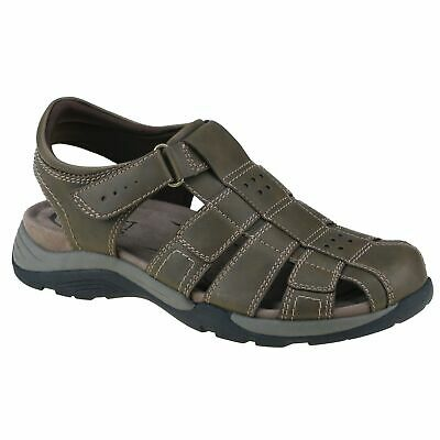 Planet Shoes Mens Toby Casual Comfort Closed Toe Sandal in Brown
