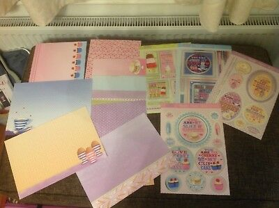 Hunkydory Adorable Scorable food and drink Mixed Card Crafting Bundle A4