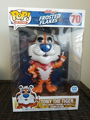 """Funko Pop Kellog's Frosted Flakes Tony The Tiger 70 Funko Shop Exclusive 10"""" New"""