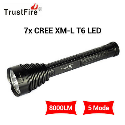 40000Lumens 18650 XML T6 LED Military Zoomable Bronze Flashlight Torch Lamp UK