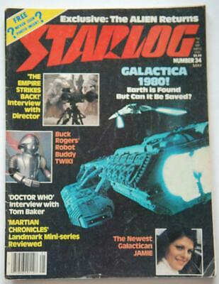 STARLOG #34 May 1980, Empire Strikes Back Interview, Buck Rogers, Doctor Who P02