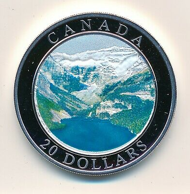 Canada  20 Dollars 2004 Natural Wonders Rocky Mountains - Proof .999 Fine Silver