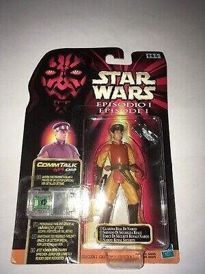 Star Wars Episode 1 Commtech Naboo Royal Security Figure Mint on Card