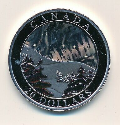 Canada  20 Dollars 2004 Natural Wonders Northern Lights - Proof .999 Fine Silver
