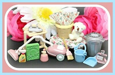 ❤️Calico Critters Let's Clean Laundry Room Set Furniture Accessory Sylvanian❤️