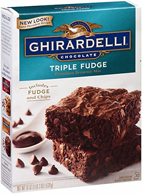 Ghirardelli Chocolate Triple Fudge Brownie Mix, 19-Ounce Boxes Pack of 12