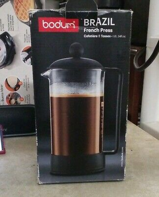 Brazil French Press 8 Cup Coffee Maker Black