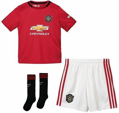 MANCHESTER UNITED FC 2019/20 HOME ADULT FOOTBALL KIT - Large and Medium