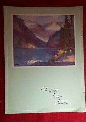 July 18th, 1936  ----  Chateau Lake Louise Canadian Pacific Hotels Menu