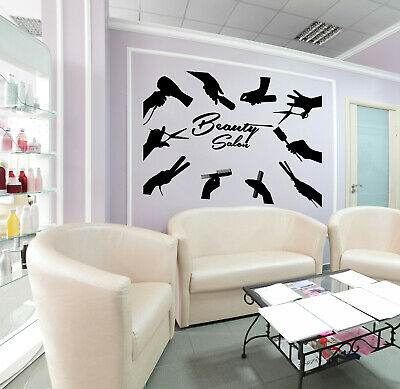 Vinyl Wall Decal Beauty Salon Logo For Barber Barbershop Stickers (4045ig)