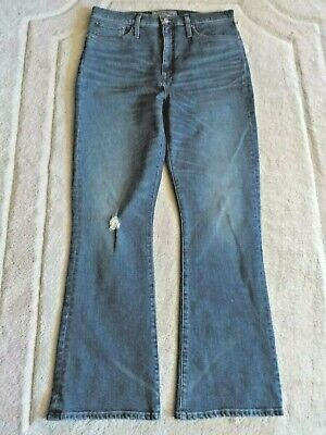 Womens J Crew Point Sur Jeans Skinny Flare 31 Distressed NWOT