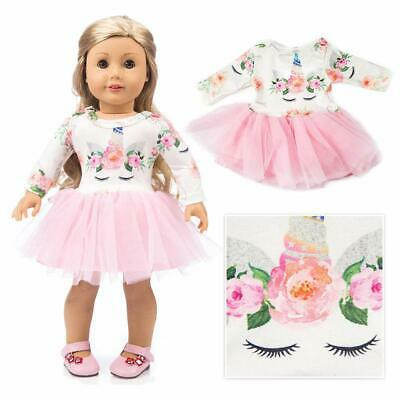American Girl Doll Unicorn Clothes Outfit Pajamas 18 Inch and Accessories for 18
