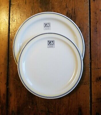 1950s Set of GM Training Center Cafeteria Plates General Motors salad and dinner
