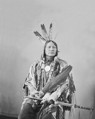 Native American Indian CHIEF RUNNING ANTELOPE Glossy 8x10 Photo Hunkpapa Print