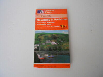 Britain OS Explorer Map (106) Newquay and Padstow (Map), Ordnance Survey VGC