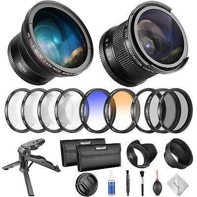 Neewer 58mm Professional Camera Lens and Filter Set Kit with Fisheye Lens