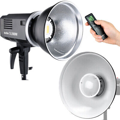 Godox SLB-60W Studio LED Video Light + Li-ion Battery + Beauty Dish + Remote