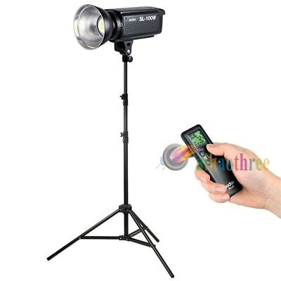 Godox SL-100W White Version Remote Studio Video LED Light Bowens Mount + Stand