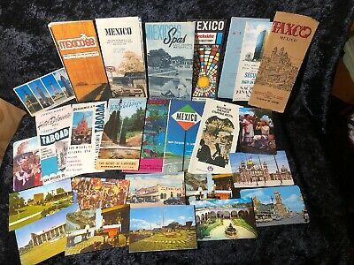 Mexico Mexican Vintage Postcards And Travel Brochures