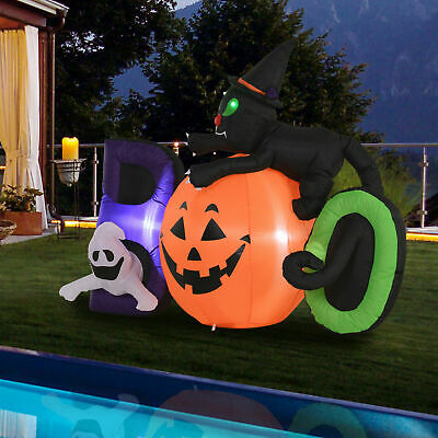 HOMCOM 5.5' Lighted Halloween Inflatable Outdoor