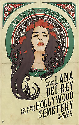 Lana Del Rey Poster Print Art - Various Sizes & Framed Option 005