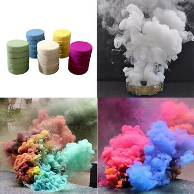 Smoke Cake Colorful Smoke Effect Show Round Cake Stage Photography Aid Toy Gifts