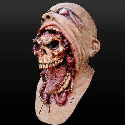 Fashion Melting Face Latex Adult Bloody Zombie Mask Halloween Scary Cosplay Prop