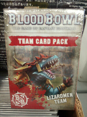 Blood Bowl Lizardmen Team Card Pack - New And Sealed