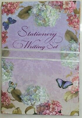 Stationery WRITING PAPER with ENVELOPES 20 sets garden theme embossed Fine Arts