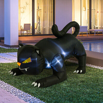 Halloween 6' Giant Black Cat LED Light Outdoor Airblown Inflatable Decoration