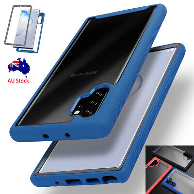 For Samsung Galaxy Note 10 / 10 Plus Clear Hybrid Bumper Shockproof Case Cover
