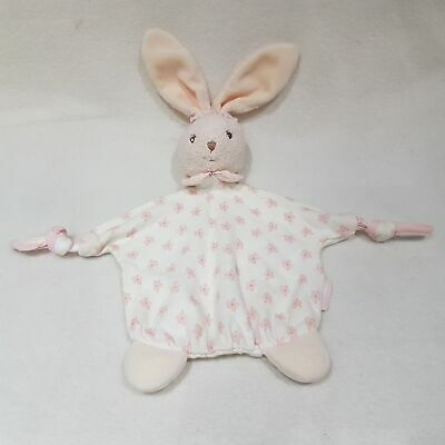 White And Pink Bunny Rabbit Blankie Soother Comforter By Kaloo