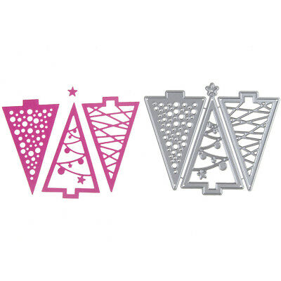 3pcs Christmas Tree Metal Cutting Dies For DIY Scrapbooking Album Paper IHS