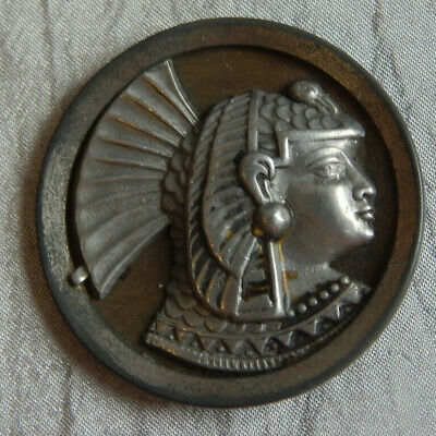 """Antique Picture Button Egyptian Pharaoh 1-1/2"""" Xtra Lrg #313-B"""