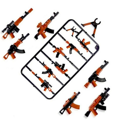 UK seller Selection full colour lego brick army Ak47 Weapons PUBG warrior