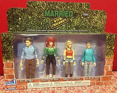 2018 Funko Action Figures Married With Children NYCC Exclusive 4-Pack MISB
