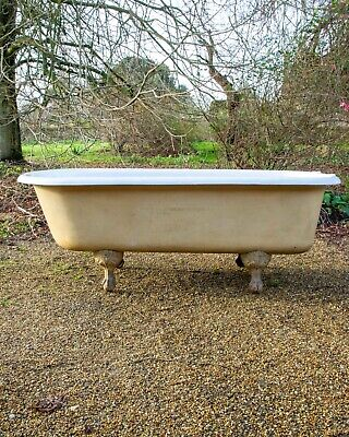 Antique Early 20th Century Restored Clawfoot Cast Iron Bathtub George Jennings