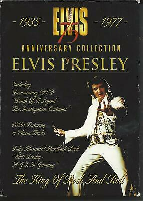 ELVIS PRESLEY DVD - 75th Anniversary Collection (3 disc set and book)