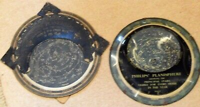 2 Rare Philips Planispheres  one 1900's Showing The Principal Stars