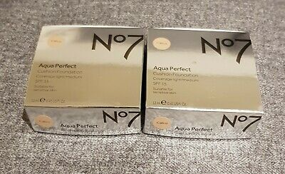 2X No7 Aqua Perfect Foundation - Calico Spf 15. New In Box!