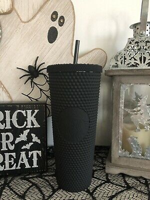 Fall 2019 Halloween Matte Black Starbucks Spiked Tumbler Sold Out HTF Rare