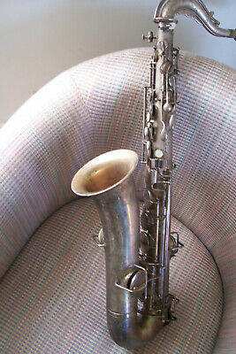 Buescher Silver 1925 Low Pitch True Tone Tenor Saxophone