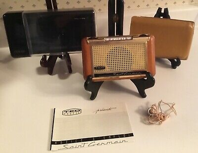 TED Saint Germain Transistor Radio / Plastic & Leather Cases Instructions WORKS
