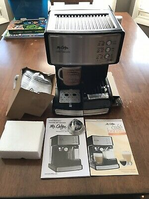 Mr. Coffee Cafe Barista Espresso Maker with Automatic Milk Frother White